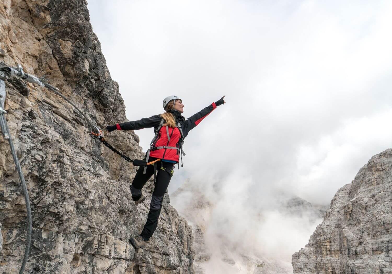 Female mountain climber RF