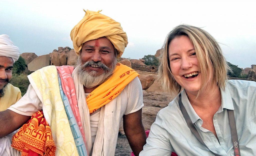 MW Hampi with Sadhu